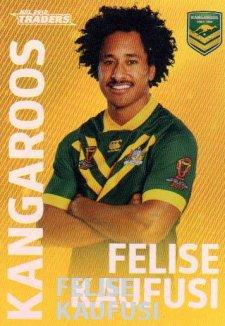 2018 NRL Traders World Cup Heroes Album Version WCP12 Felise Kaufusi Kangaroos