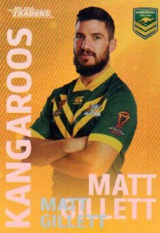 2018 NRL Traders World Cup Heroes Album Version WCP8 Matt Gillett Kangaroos