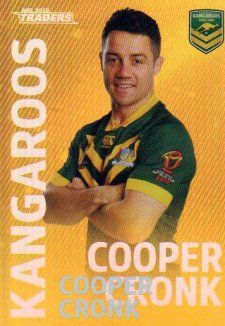 2018 NRL Traders World Cup Heroes Album Version WCP4 Cooper Cronk Kangaroos