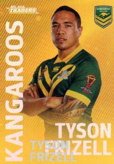 2018 NRL Traders World Cup Heroes Album Version WCP6 Tyson Frizell Kangaroos