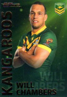 2018 NRL Traders World Cup Heroes WC2 Will Chambers Kangaroos