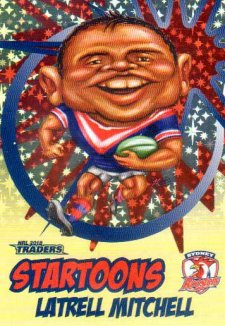 2018 NRL Traders Startoons Starter Version Yellow SY16 Latrell Mitchell Roosters