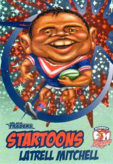 2018 NRL Traders Startoons Starter Version Green SG16 Latrell Mitchell Roosters