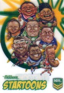 2018 NRL Traders Startoons ST14 Group B Header Card