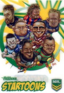 2018 NRL Traders Startoons ST5 Group A Header Card