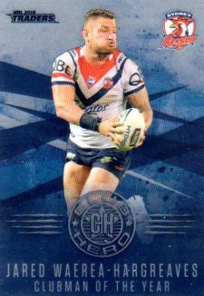 2018 NRL Traders Club Hero CH28 Jared Waerea-Hargreaves Roosters