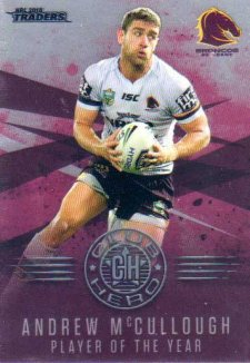 2018 NRL Traders Club Heroes CH1 Andrew McCullough Broncos