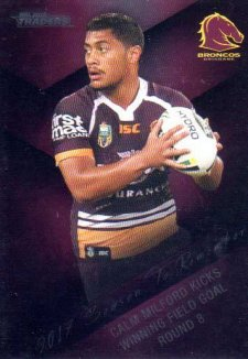 2018 NRL Traders Season to Remember SR2 Anthony Milford Broncos