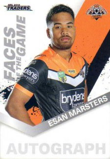 2018 NRL Traders Faces of the Game FG64 Esan Marsters Tigers