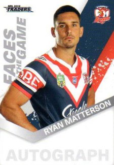 2018 NRL Traders Faces of the Game FG56 Ryan Matterson Roosters