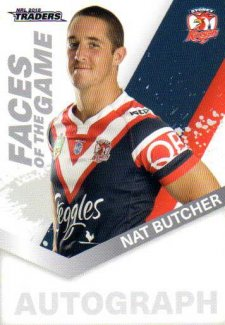 2018 NRL Traders Faces of the Game FG53 Nat Butcher Roosters