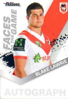 2018 NRL Traders Faces of the Game FG52 Blake Lawrie Dragons