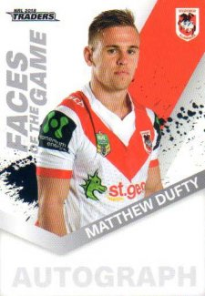 2018 NRL Traders Faces of the Game FG50 Matthew Dufty Dragons