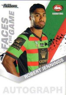 2018 NRL Traders Faces of the Game FG47 Robert Jennings Rabbitohs