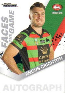 2018 NRL Traders Faces of the Game FG45 Angus Crichton Rabbitohs