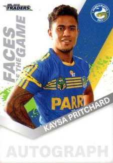 2018 NRL Traders Faces of the Game FG40 Kaysa Pritchard Eels