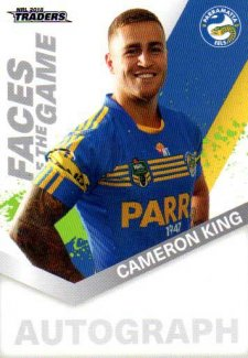 2018 NRL Traders Faces of the Game FG39 Cameron King Eels
