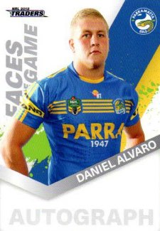 2018 NRL Traders Faces of the Game FG37 Daniel Alvaro Eels