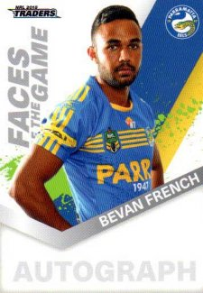 2018 NRL Traders Faces of the Game FG38 Bevan French Eels