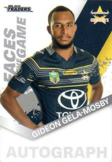 2018 NRL Traders Faces of the Game FG34 Gideon Gela-Mosby Cowboys