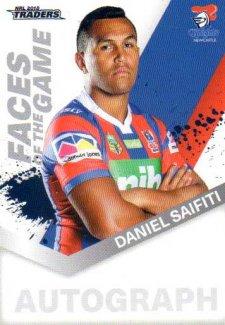 2018 NRL Traders Faces of the Game FG31 Daniel Saifiti Knights