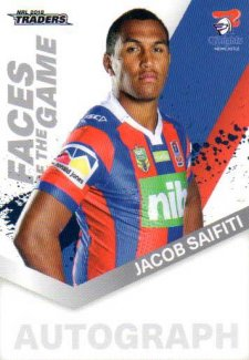 2018 NRL Traders Faces of the Game FG30 Jacob Saifiti Knights