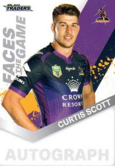 2018 NRL Traders Faces of the Game FG28 Curtis Scott Storm
