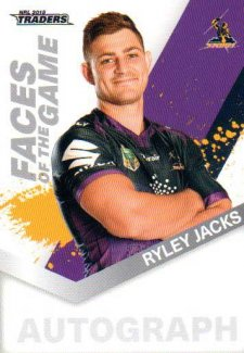 2018 NRL Traders Faces of the Game FG26 Ryley Jacks Storm