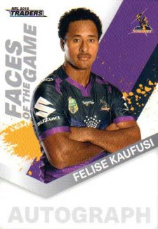 2018 NRL Traders Faces of the Game FG27 Felise Kaufusi Storm