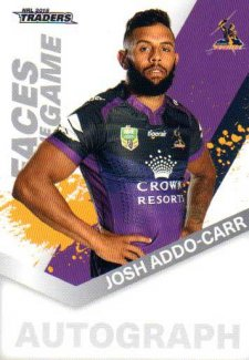 2018 NRL Traders Faces of the Game FG25 Josh Addo-Carr Storm