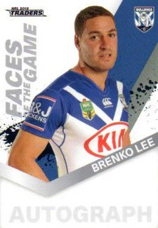 2018 NRL Traders Faces of the Game FG11 Brenko Lee Bulldogs