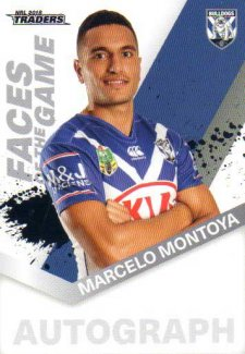 2018 NRL Traders Faces of the Game FG12 Marcelo Montoya Bulldogs