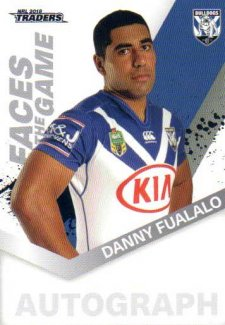 2018 NRL Traders Faces of the Game FG10 Danny Fualalo Bulldogs