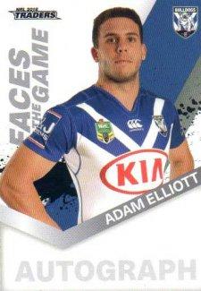 2018 NRL Traders Faces of the Game FG9 Adam Elliott Bulldogs