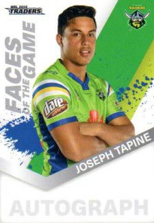 2018 NRL Traders Faces of the Game FG7 Joseph Tapine Raiders