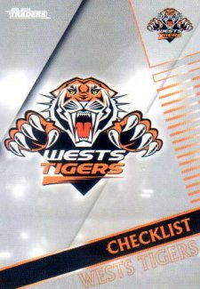 2018 NRL Traders Parallel Pearl Special PS151 Tigers Checklist