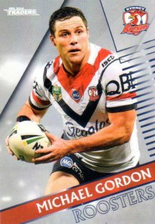2018 NRL Traders Parallel Pearl Special PS135 Michael Gordon Roosters