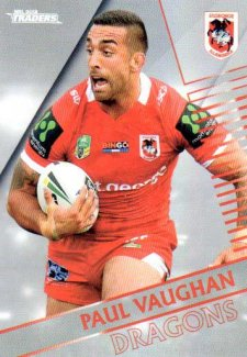 2018 NRL Traders Parallel Pearl Special PS129 Paul Vaughan Dragons