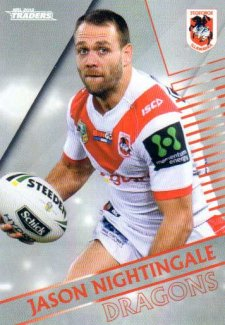 2018 NRL Traders Parallel Pearl Special PS127 Jason Nightingale Dragons