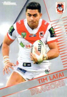 2018 NRL Traders Parallel Pearl Special PS124 Tim Lafai Dragons