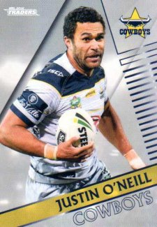 2018 NRL Traders Parallel Pearl Special PS87 Justin O'Neill Cowboys