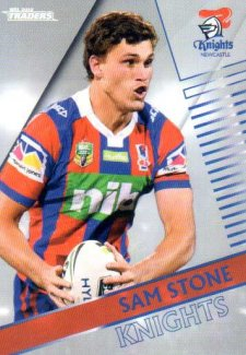 2018 NRL Traders Parallel Pearl Special PS80 Sam Stone Knights