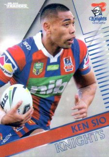 2018 NRL Traders Parallel Pearl Special PS79 Ken Sio Knights