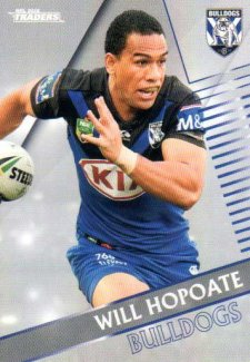 2018 NRL Traders Parallel Pearl Special PS24 Will Hopoate Bulldogs
