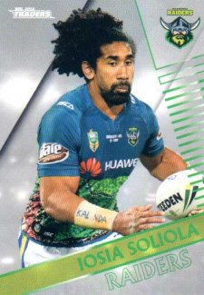 2018 NRL Traders Parallel Pearl Special PS20 Iosia Soliola Raiders