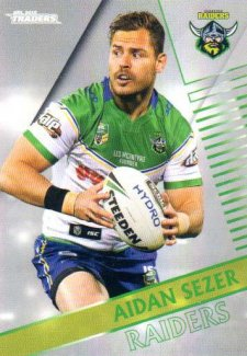 2018 NRL Traders Parallel Pearl Special PS19 Aiden Sezer Raiders