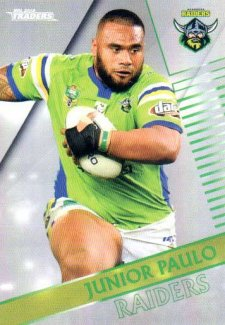 2018 NRL Traders Parallel Pearl Special PS17 Junior Paulo Raiders
