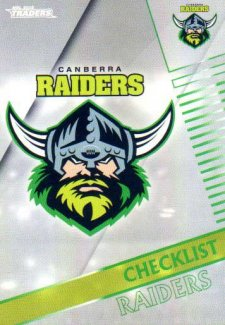 2018 NRL Traders Parallel Pearl Special PS11 Raiders Checklist