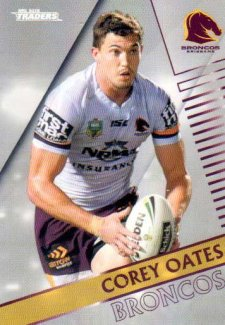 2018 NRL Traders Parallel Pearl Special PS7 Corey Oates Broncos