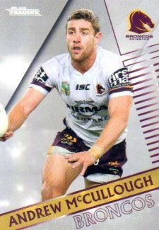 2018 NRL Traders Parallel Pearl Special PS4 Andrew McCullough Broncos